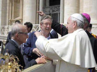 L'imprevisto in udienza dal Papa