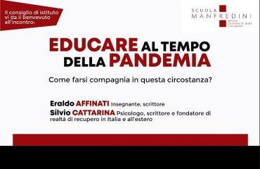 EDUCARE AL TEMPO DELLA PANDEMIA - incontro con Eraldo Affinati e Silvio Cattarina